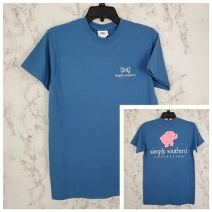SIMPLY SOUTHERN Preppy Elephant Tee T-Shirt Small